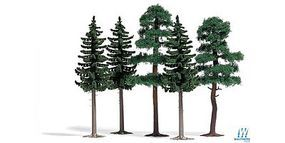 Busch 3 Spruce and 2 Scotch Firs Model Railroad Tree #6149
