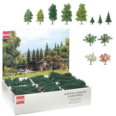 Busch Gmbh Assorted Trees (204) -- Model Railroad Tree -- #6333
