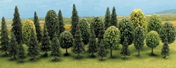 Busch Mixed Forest Trees - pkg(30) HO Scale Model Railroad Tree #6489