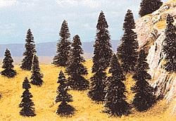 Busch Gmbh Pine Tree Assortment - 1-9/16 - 3-1/2'' pkg(20) -- HO Scale Model Railroad Tree -- #6498