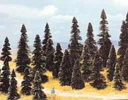 Busch Pine Tree Assortment - 2-3/8 - 4-11/32 pkg(100) HO Scale Model Railroad Tree #6499