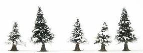 Busch Trees (pkg 20) - Snow Covered Pines N Scale Model Railroad Tree #6566