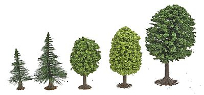 Busch Gmbh Mixed Forest Trees - pkg(50) -- N Scale Model Railroad Tree -- #6591