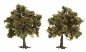 Busch Trees - Apple Tree - 75mm - Package of 2 HO Scale Model Railroad Tree #6848