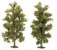 Busch Beech Trees Pkg (2) - 90mm (2) HO Scale Model Railroad Tree #6939