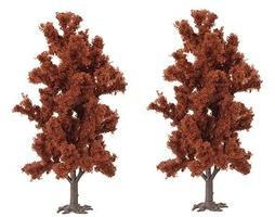Busch Red Beech Trees pkg(2) - 5-7/8 15cm HO Scale Model Railroad Tree #6958