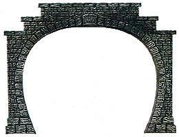 Busch Double-Track Tunnel Portals (2) HO Scale Model Railroad Scenery #7027