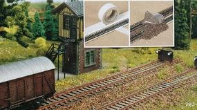 Busch Track Ballast Tape with #7125 Ballast - Double-Faced Z Scale Model Railroad Scenery #7092