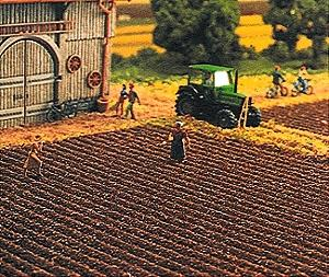 Busch Gmbh Plowed Field Sheet - 19 x 11'' 48 x 28cm -- HO Scale Model Railroad Grass Mat -- #7182