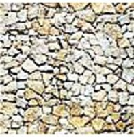 Busch Wall Card 8-1/4 x 5-13/16 Natural Stone HO Scale Model Railroad Road Accessory #7422