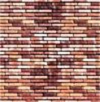 Busch Wall Card 8-1/4 x 5-13/16 Red Brick HO Scale Model Railroad Road Accessory #7425