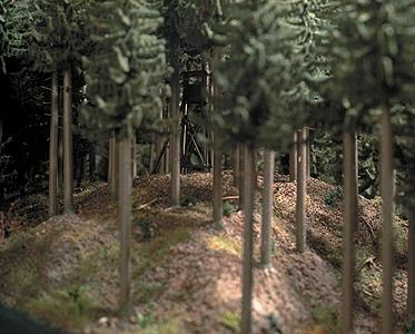 Busch Ground Cover Coniferous (Pine) Forest HO Scale Model Railroad Grass Earth #7529