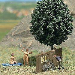 Busch Admiring the Scenery (Nudist Colony - Adult) HO Scale Model Railroad Figures #7669