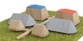 Busch Camping Set w/6 Assorted tents N Scale Model Railroad Building Accessory #8120