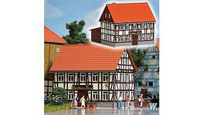Busch Rural Half-Timbered Inn Kit N Scale Model Railroad Building #8210