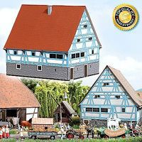 Busch Historic Hohenlohe Half-Timber Farmhouse - Kit N Scale Model Railroad Building #8236