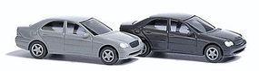 Busch Mercedes-Benz C Klasse Sedan 2-Pack 1 Each Black, Gray N Scale Model Railroad Vehicle #8319