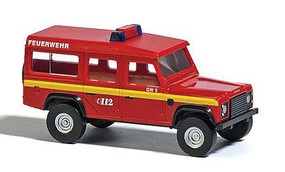 Busch Land Rover - Assembled Fire Department (red, yellow) - N-Scale