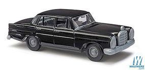 Busch 1959 Mercedes-Benz 220 Sedan (Black) HO Scale Model Railroad Vehicle #89100