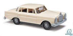 Busch 1959 Mercedes-Benz 220 Sedan (Beige) HO Scale Model Railroad Vehicle #89101