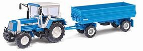 Busch HW 80.11 Low-Side Grain Trailer & ZT323 Tractor HO Scale Model Railroad Vehicle #95011
