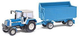 Busch HW 80 SHA High-Side Grain Trailer & ZT320 Tractor HO Scale Model Railroad Vehicle #95012