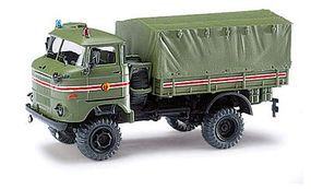 Busch 1969 IFA W50LA/A Low-Side Truck w/Canvas Cover HO Scale Model Railroad Vehicle #95216