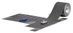 Busch 16-Stall Asphalt Parking Lot with Roadway and 2 Audi Cars With 1-9/16 x 39-3/8 4cm x 1m Road - N-Scale