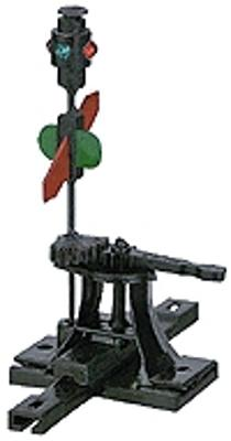Caboose Industries High-Level Switch Stand -- .190'' Travel Sprung w/Lantern & Targets - HO-Scale
