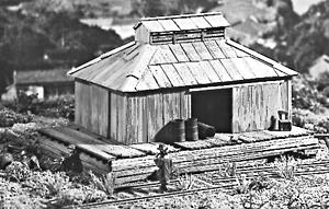 Campbell Freight Storage Shed O Scale Model Railroad Building #127