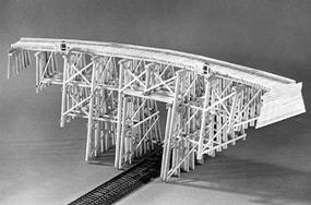 Campbell 110 Tall Curved Trestle HO Scale Model Railroad Trestle Kit #304