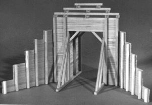 Timber Tunnel Portals N Scale Model Railroad Tunnel Kit