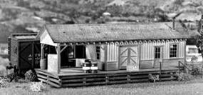 Campbell Wayside Freight Station HO Scale Model Railroad Building Kit #361