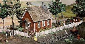 Campbell Iowa School House HO Scale Model Railroad Building Kit #369