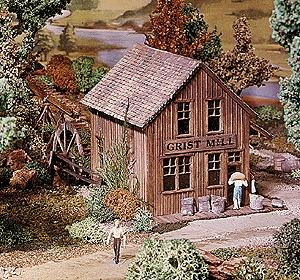 Campbell Grist Mill HO Scale Model Railroad Building Kit #374