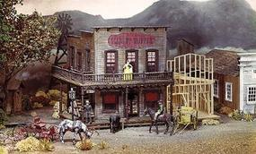 Campbell Sherrys Scarlet Slipper Saloon HO Scale Model Railroad Building Kit #378
