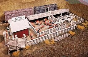 Campbell M E Nelson Livestock Company HO Scale Model Railroad Building Kit #400