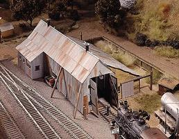 Campbell Engine House HO Scale Model Railroad Building Kit #401