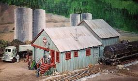 Campbell Oil Warehouse & Office HO Scale Model Railroad Building Kit #406