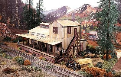 Campbell Scale Model Richmond Barrel Manufacturing Company -- HO Scale Model Railroad Building Kit -- #422