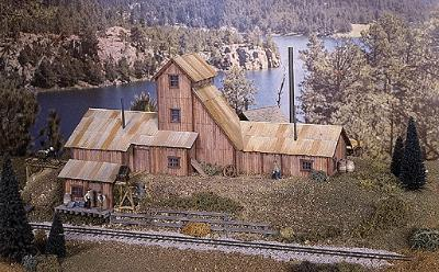Campbell Red Mountain Mine HO Scale Model Railroad Building Kit #429