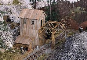 Campbell Idaho Springs Mine HO Scale Model Railroad Building Kit #433