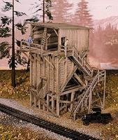 Campbell Ore Bin HO Scale Model Railroad Building Kit #438