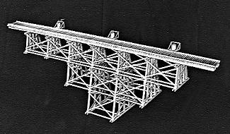 Campbell Scale Model Tall Timber Trestle Kit -- HO Scale Model Railroad Trestle Kit -- #751