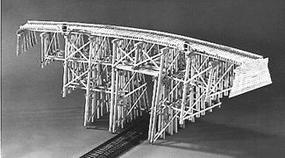 Campbell High Curved Trestle Kit N Scale Model Railroad Trestle Kit #754