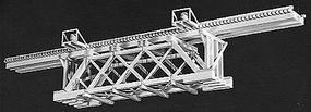 Campbell 50 Deck Timber Bridge HO Scale Model Railroad Bridge Kit #761