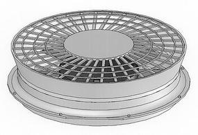 Cannon HO Thinwall Radiator Fan 48'' Flare Top for GP20 (2)