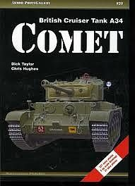 Casemate books Armor Photo Gallery 20- British Cruiser Tank A34 Comet -- Military History Book -- #apg20