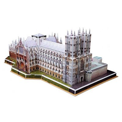 Cubic Fun Westminster Abbey (London, England) (145pcs) -- 3D Jigsaw Puzzle -- #121