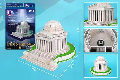 Cubic Fun Jefferson Memorial (Washington DC, USA) (35pcs) -- 3D Jigsaw Puzzle -- #208